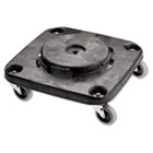 Brute Container Square Dolly, 300lb, Black RCP3530