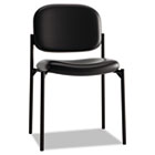 VL606 Series Stacking Armless Guest Chair, Black Leather BSXVL606SB11