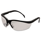 Klondike Safety Glasses, Matte Black Frame, Clear Lens CRWKD110