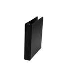 "Round Ring Mini Reference Binder With Label Holder, 1"" Capacity, Black UNV30404"