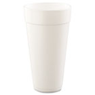 Drink Foam Cups, Hot/Cold, 24oz, White, 500/Carton DRC24J24