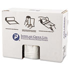 Inteplast Group High-Density Can Liner, 38 x 60, 60gal, 22mic, Clear, 25/Roll, 6 Rolls/Carton IBSS386022N