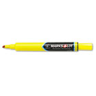 Permanent Marker, Large Chisel Tip, Yellow, Dozen AVE08882