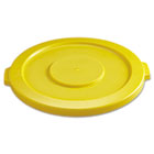 """Round Flat Top Lid, for 32-Gallon Round Brute Containers, 22 1/4"""", dia., Yellow RCP2631YEL"""
