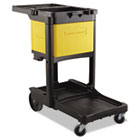 Locking Cabinet, For Rubbermaid Commercial Cleaning Carts, Yellow RCP6181YEL