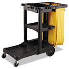 Vinyl Cleaning Cart Bag, 26gal, Yellow, 17 1/2w x 10 1/2d x 33h RCP9T80YEL