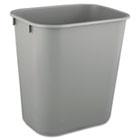 Deskside Plastic Wastebasket, Rectangular, 3.5gal, Gray RCP2955GRA