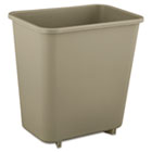 Deskside Plastic Wastebasket, Rectangular, 2gal, Beige RCP2952BEI