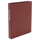 "Suede Finish Vinyl Round Ring Binder With Label Holder, 1"" Capacity, Burgundy UNV31414"