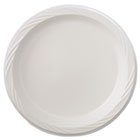 "Lightweight Plastic Dinnerware, Plate, 9"" dia, White, 125/Pack, 4 Packs/Carton HTM82209"