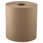 "Hardwound Roll Towels, 1-Ply, Natural, 8"" x 700ft, 6 Rolls/Carton GEN800HN6"