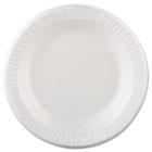 "Laminated Foam Dinnerware, Plate, 10 1/4"" dia, White, 125/Pack, 4 Packs/Case DCC10PWQR"