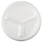 "Elite Laminated Foam Dinnerware, Plate, 3-Comp, 10 1/4"" dia, White, 500/Carton GPKLAM13"
