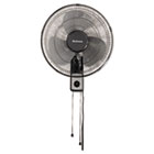 "16"" Wall Mount Fan, 3-Speed, Metal, Black HLSHMF1611AUM"