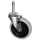 "Replacement Swivel Bayonet Casters, 4"" Wheel, Thermoplastic Rubber, Black RCP3424L6"