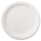 "Coated Paper Dinnerware, Plate, 9"", White, 50/Pack, 10 Packs/Carton HOFPL7095"