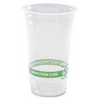 GreenStripe Renewable & Compostable Cold Cups - 24oz., 50/PK, 20 PK/CT ecp ep-cc24-gs