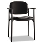 VL616 Series Stacking Guest Chair with Arms, Black Leather BSXVL616SB11