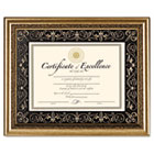 Florence Document Frame with Mat, Gold, Plastic, 11 x 14 DAXN2742S1T