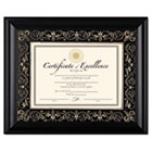 Florence Document Frame with Mat, Black, Plastic, 11 x 14 DAXN2742S2T