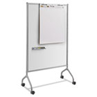 Impromptu Magnetic Whiteboard Collaboration Screen, 42w x 21 1/2d x 72h, Gray SAF8511GR
