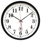 "Atomic Slimline Contemporary Clock, 16-1/2"", Black ILC67403302"