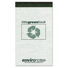 Little Green Book, Gray Cover, Narrow Rule, 3 x 5, White Paper, 60 Sheets ROA77355