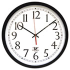 "SelfSet Wall Clock, 14-1/2"", Black ILC67800613"