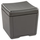 OTTO File Ottoman, 18w x 18d x 17-1/4h, Charcoal/Charcoal ICE64537