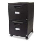 Two-Drawer Mobile Filing Cabinet, 14-3/4w x 18-1/4d x 26h, Black STX61309B01C