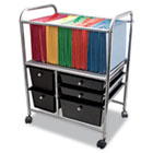 Letter/Legal File Cart w/Five Storage Drawers, 21-5/8 x 15-1/4 x 28-5/8, Black AVT34100