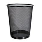 Mesh Wastebasket, 18qt, Black UNV20008