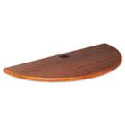 Height-Adjustable Flipper Table Top, Half-Round, 48w x 24d, Cherry BLT90301