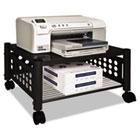 Underdesk Machine Stand, One-Shelf, 21-1/2w x 17-7/8d x 11-1/2h, Black VRTVF52009
