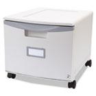 Single-Drawer Mobile Filing Cabinet, 14-3/4w x 18-1/4d x 12-3/4h, Gray STX61254U01C