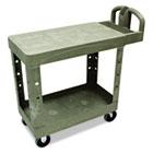 Flat Shelf Utility Cart, Two-Shelf, 19-1/5w x 37-7/8d x 33-1/3h, Beige RCP450500BG