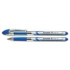 Slider Ballpoint Pens, Stick, 0.8 mm, Medium, Blue, 10/Box STW151103