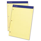 Double Sheet Pad, College Rule, 8-1/2 x 11-3/4, Canary, Perfed, 100 Sheets TOP20223