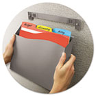 Cubicle Wall File Pocket, 12 1/2 x 1 3/8 x 9 1/2, Gray AVE73516