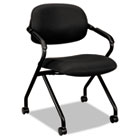 VL303 Series Nesting Arm Chair, Black/Black BSXVL303MM10T