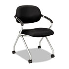 VL303 Series Nesting Arm Chair, Black/Silver BSXVL303MM10X