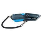Box Cutter Knife w/Shielded Blade, Black/Blue COS091524