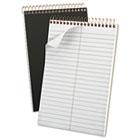 Gold Fibre Spiral Steno Book, Gregg Rule, 6 x 9, Grey Cover, 100 Sheets TOP20808