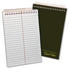 Gold Fibre Spiral Steno Book, Gregg Rule, 6 x 9, White/GN, 100 Sheets TOP20806