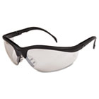 Klondike Safety Glasses, Black Matte Frame, Clear Mirror Lens CRWKD119