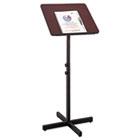 Adjustable Speaker Stand, 21w x 21d x 29-1/2h to 46h, Mahogany/Black SAF8921MH