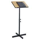 Adjustable Speaker Stand, 21w x 21d x 29-1/2h to 46h, Medium Oak/Black SAF8921MO