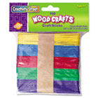 Colored Wood Craft Sticks, 4 1/2 X 3/8, Wood, Assorted, 150/Set CKC367502