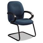 Enterprise Series Side Arm Chair, Polypropylene Fabric, Navy GLB4565BKPB08