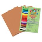 Premium Sulphite Construction Paper, 76 lbs., 9 x 12, Light Brown, 50/Pack RLP74701